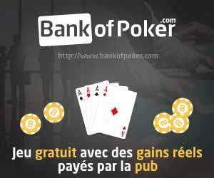 BankOfPoker - Jeu et tournois gratuits avec des gains véritables payés par la pub