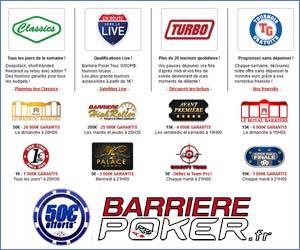 Barrière Poker : Nouvelle gamme de tournois pour petits et gros joueurs