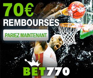 Bet770 : premier pari perdant remboursé jusqu'à 70 euros
