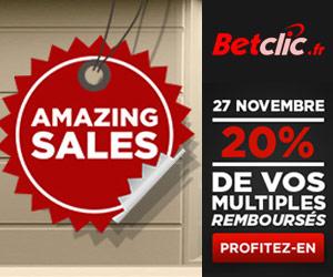 Betclic Amazing Sales : 20% des paris multiples remboursés