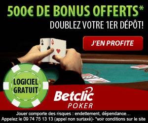 www.betclic.fr Poker | Jusqu'à 500 euros de Bonus
