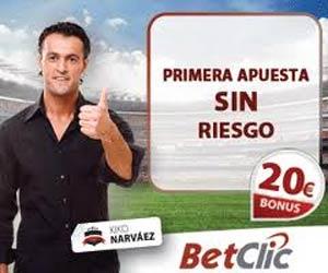 www.BetClic.com | Primer apuesta sin riesgo, hasta 20€.