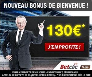 Betclic Turf : Nouveau bonus de bienvenue de 130 euros