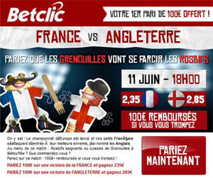 BetClic : 1er pari remboursé jusqu'à 100€ sur Euro 2012