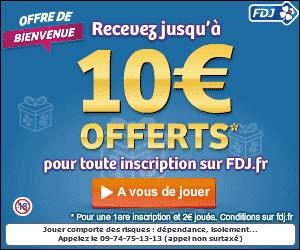 FDJ : 5 euros joués = 10 euros offerts