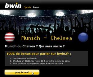 Bwin offre 100 euros de bonus pour parier sur la finale de la Ligue des Champions 2012