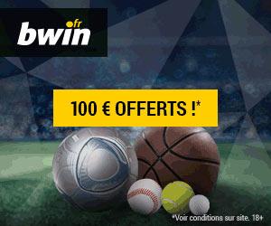 www.bwin.fr - Bonus de bienvenue de 100 euros sur le premier pari sportif perdant