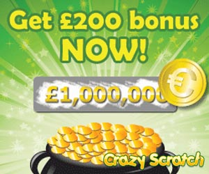 CrazyScratch Online Scratch Cards