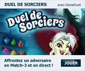 Duel de Sorciers - jeu de Match 3 multijoueur en ligne de GameDuell