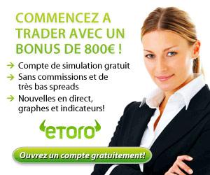 Programme exclusif de Forex de www.Etoro.com : Le trading financier à la portée de tous