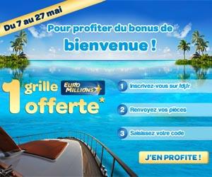 FDJ offre 1 grille Euro Millions en bonus de bienvenue aux nouveaux inscrits