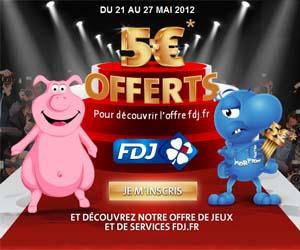 FDJ : 5 euros offerts pour tout dépôt de 5 euros