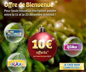 FDJ : Bonus de 10 euros valable sur tous les jeux