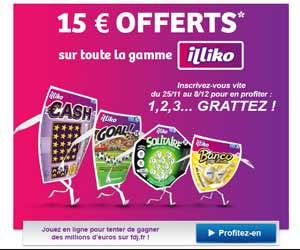 FDJ : 15€ offerts