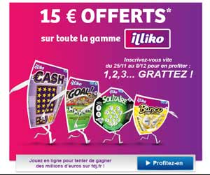 FDJ : 15 euros offerts sur la gamme illiko