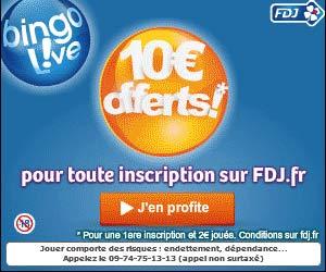 FDJ.fr : 10€ offerts pour miser 2€ au Bingo Live!