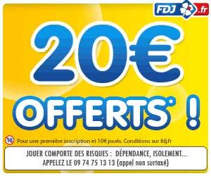 La FDJ offre 20 euros