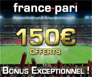 France Pari - 150 euros de bonus + 1 grille Lotto Combino gratuite