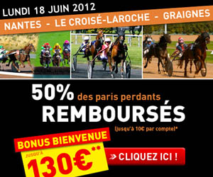 GENYbet - 50% des paris perdants remboursés jusqu'à 10 euros ce lundi 18 juin 2012
