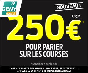 GENYbet : Bonus de 250 euros