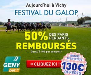 GENYbet : 50% des paris perdants remboursés pour le Festival du Galop