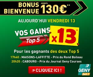 GENYbet : Vendredi 13 les gains Top5 multipliés par 13