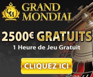 www.grandmondialcasino.eu | Recevez 400€ gratuits avec Grand Mondial Casino