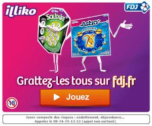 Opération Illiko de fdj.fr - Bonus 15 euros en e-credits du 2 au 6 avril