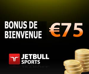 JetBull Sports - Bonus de bienvenue de 75 euros