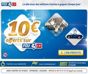 FDJ : 10 euros offerts à l'inscription jusqu'au 15 septembre 2013