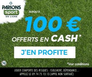 ParionsWeb : le bonus de 1er pari perdant de 100 euros disponible en janvier 2013
