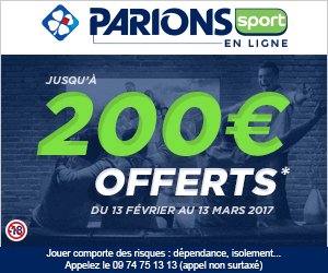 ParionsSport : bonus exceptionnel de 200€