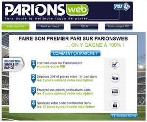 ParionsWeb : Bonus boosté à 120 euros du 13 au 30 avril