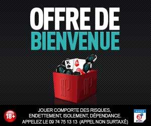 Partouche Poker : Bonus de 1er dépôt jusque 500 euros + Welcome pack de 10000 euros garantis