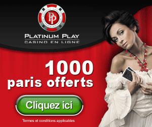 www.PlatinumPlay.eu | 1.500 crédits + bonus jusqu'à $200