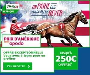 PMU.fr : bonus de 250€ pour le Grand Prix d'Amérique