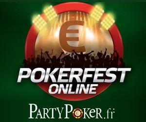 PartyPoker - PokerFest avec 45 tournois & prize pool de 600000 euros garantis