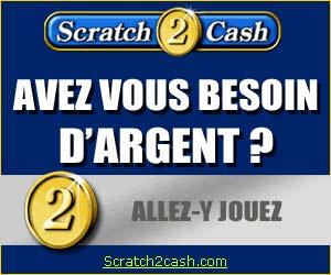 Scratch2Cash - 200 euros de bonus de 1er dépôt