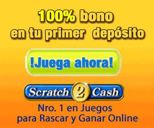 Scratch2Cash.com: 100% de bonificación en el primer depósito