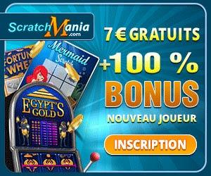 www.ScratchMania.com | Recevez 7 euros + bonus de 1er dépôt