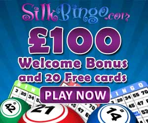 SilkBingo.com: £100 welcome bonus + 20 free cards