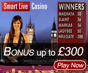 Pay Live Roulette - £300 Bonus at Smart Live Casino