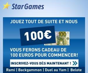 www.StarGames.com | Bonus de 100 euros