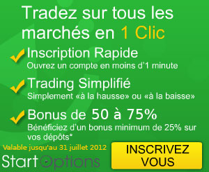 StartOptions offre un bonus de dépôt de 50% à 75% jusqu'au 31 juillet 2012