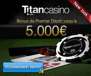 Titan Casino : Bonus de 1er dépôt jusqu'à 5000 euros