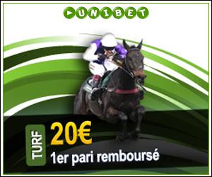Unibet Turf - 1er pari perdant remboursé jusqu'à 20 euros