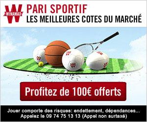 Winamax Paris Sportifs : 1er Pari Remboursé jusqu'à 100€