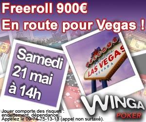 Exclusif Winga Poker - Du 30 avril au 11 juin 2012 gagnez un package pour les championnats à Las Vegas