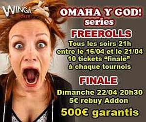 Winga Poker - Omaha y God Series Freerolls