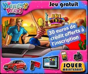 Winners-Road offre 30 euros de crédit sans dépôt pour jouer à leur  skill game et tenter de gagner des cadeaux